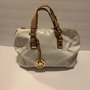 Michael Kors White and Beige Handbag